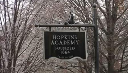 Hopkins Academy Sign
